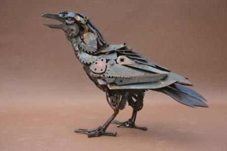 "W.O.W.  love this ""Industrial Raven""  by Harriet Mead"