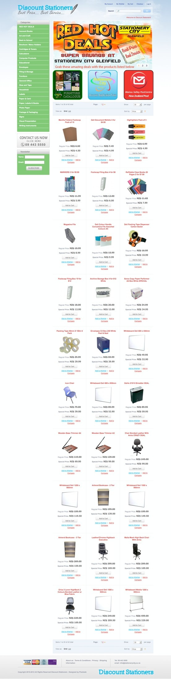 Auckland Stationery Magento Website