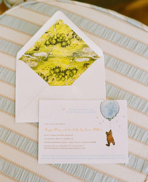 Winnie the Pooh baby shower | Little Bit Heart invites | 100 Layer Cakelet