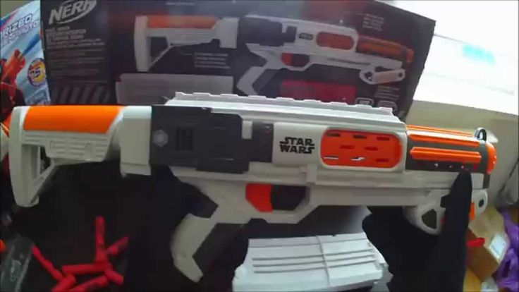http://www.nerfgunattachments.com » Happy #ForceFriday to all my Star Wars fans in the Nerf Nation! I ran out like a madman looking to find these new Star Wars toys Nerf guns. The big deluxe one, Star Wars First Order Stormtrooper Deluxe Blaster, is basically a re-shelled Nerf Rampage and the small (tiny) pistol is very similar to the Nerf Sidestrike. Check it out as I do an unboxing, overview/review and a short firing range test of the two blasters!