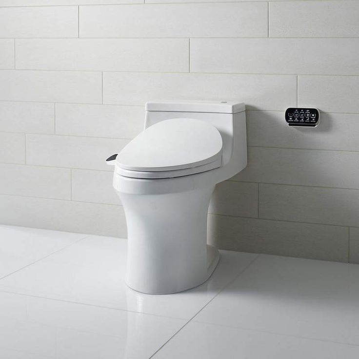 most comfortable toilet seat. Shop for the Kohler white San Souci GPF Elongated Comfort Height Toilet  with Touchless Flush and 230 Slim Bidet Seat Touchscreen Remote 115 best Technology images on Pinterest Toilets Stress