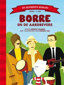 'Borre en de Aardbevers' - Borre is met Pluisdier in het park aan het spelen. Daar komt Jaap de straatmuzikant met zijn muziekgroep de Aardbevers aanlopen. Ze treden vanmiddag op in de muziektent. Maar nadat ze allemaal een supergrote zak friet hebben gegeten, rollen de Aardbevers over de grond omdat ze zo'n buikpijn hebben. 'Oh, Borre,' zegt Jaap, 'we zijn te ziek om te spelen. Kun jij tegen de mensen zeggen dat het optreden niet doorgaat?' (tekst: Jeroen Aalbers, illustraties: Stefan Tijs)