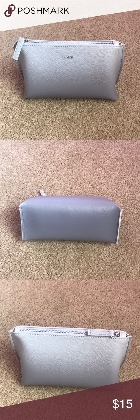 SOLD New La Mer Ombre cosmetic bag case pouch zip NWT
