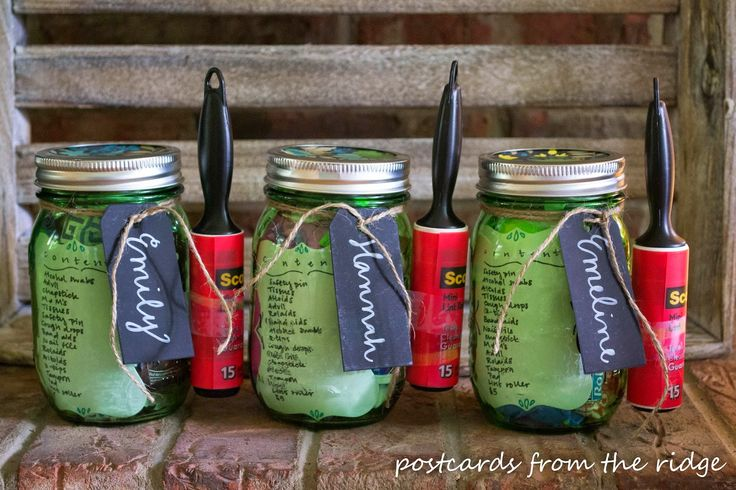 Mason jar crafts, college survival kit,