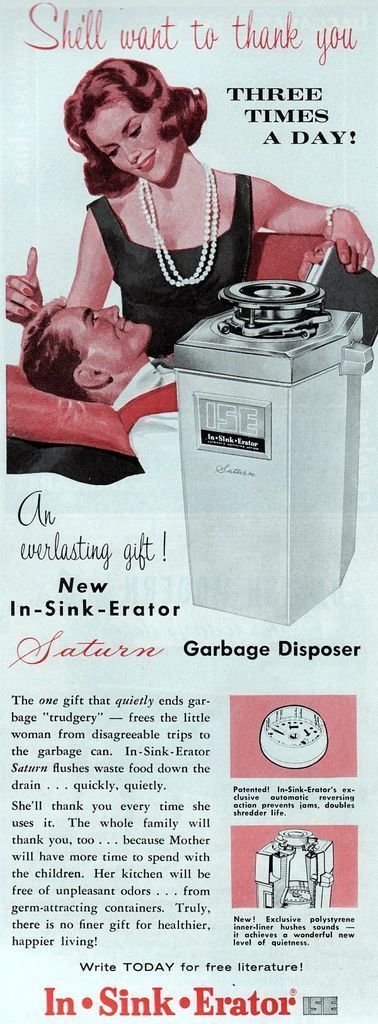 FREED BY KITCHEN APPLIANCES: Romantic Gifts, Mothers Day Gifts, Available Garbage, Vintage Observed, Little Woman, Kitchens Appliances, Three Time, Vintage Ads, Valentines Day Gifts