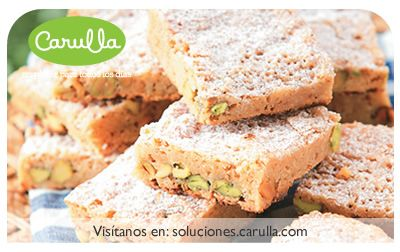 Blondies con pistachos