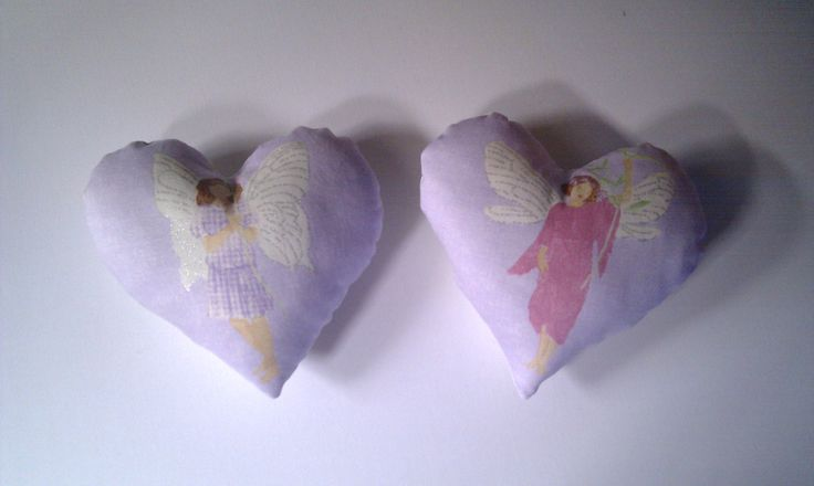 Our handmade pretty heart angel cushions, these make our heart smile xx Price is £8.45