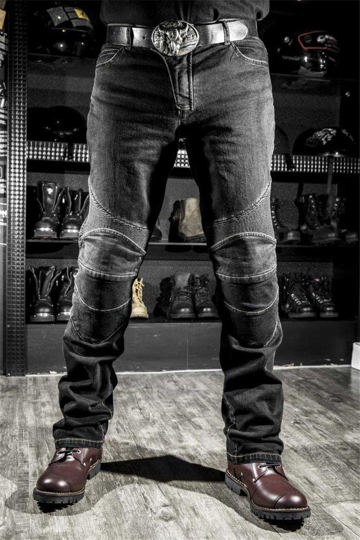 Men Motorcyle Jeans Pants KMT Racing Downhill Komine Race Denim Biker Jeans Men