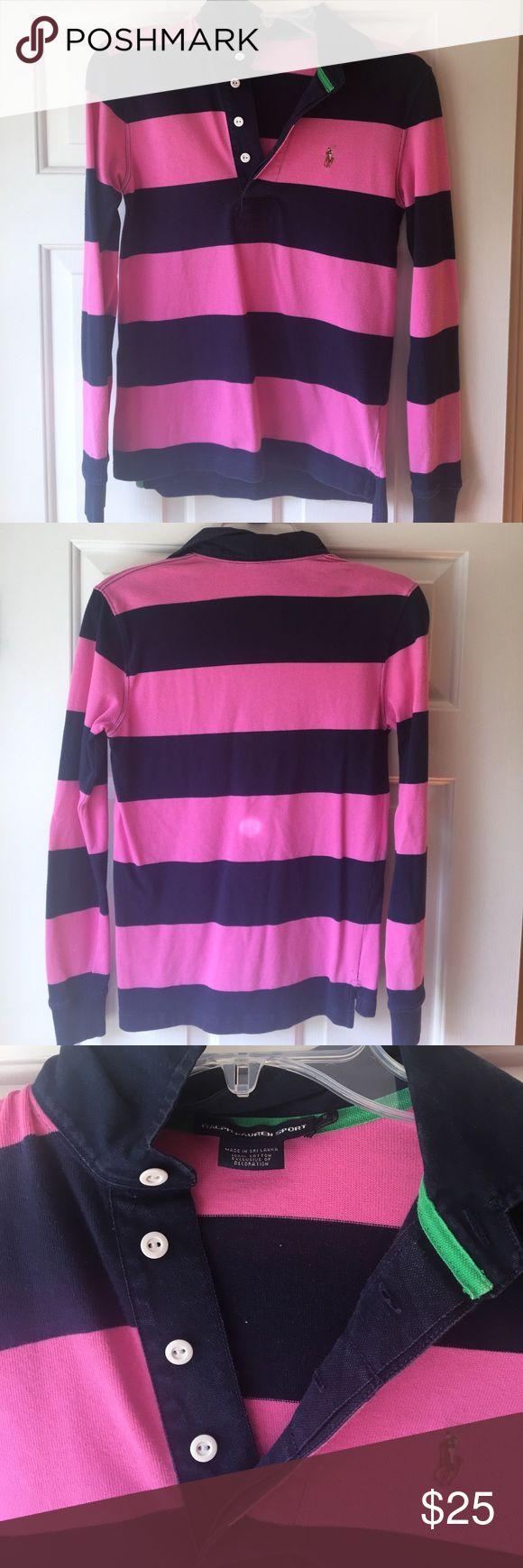 Ralph Lauren Women's Rugby Shirt Small Ralph Lauren womens rugby shirt size small. It has been worn a few times, but is in great condition! Ralph Lauren Tops