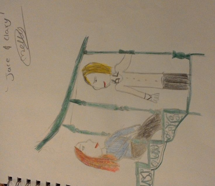 """An artwork done by Molly_Jane55 """" Jace and Clary"""""""