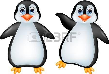pinguino caricatura: Divertido pingüino de la historieta