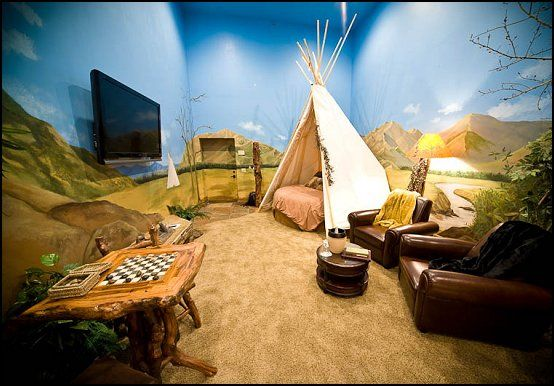 Southwestern - American Indian theme bedrooms - mexican rustic style decor - wolf theme bedrooms - Santa Fe style