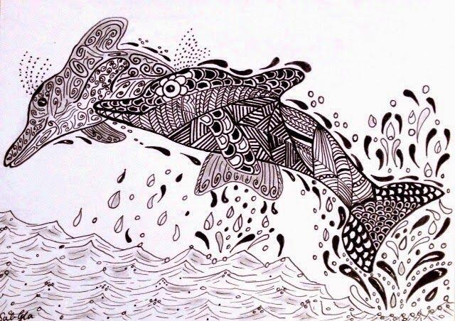 237 beste afbeeldingen over zentangled in water op for Koi zen facebook