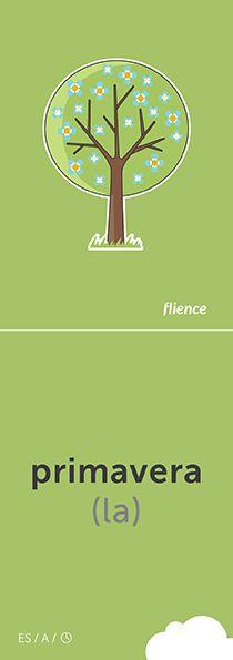 Primavera #CardFly #flience #time #spanish #education #flashcard #language
