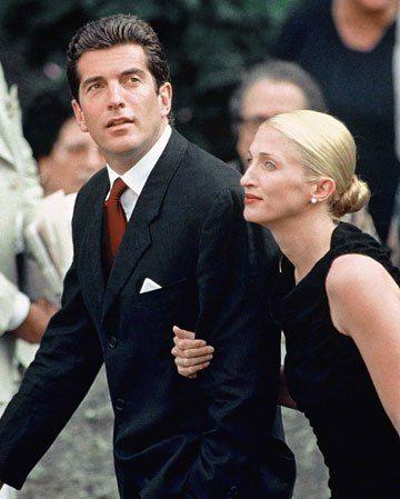 John Kennedy and Carolyn Bessette Kennedy.
