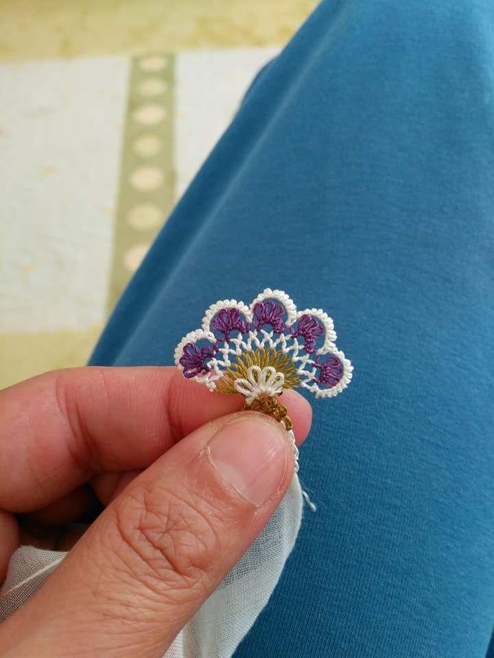 Yeni yazma kenarı çiçek oyası | Hobiler