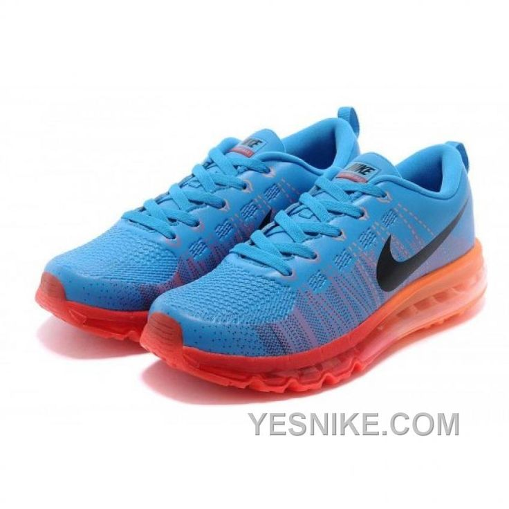 SOLDES GRANDE VENTE HOMME NIKE AIR MAX FLYKNIT CUIR CHAUSSURES BLEU NOIR  ORANGE FRANCE Only $80.00 , Free Shipping!