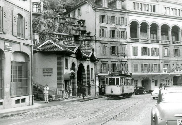 Les anciens tramways de Neuchâtel