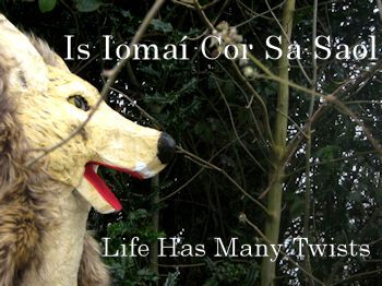 Is Iomaí Cor Sa Saol / Life has many twists  an old Irish proverb featuring the wolf from Little Red Riding Hood www.littlegempuppets.com