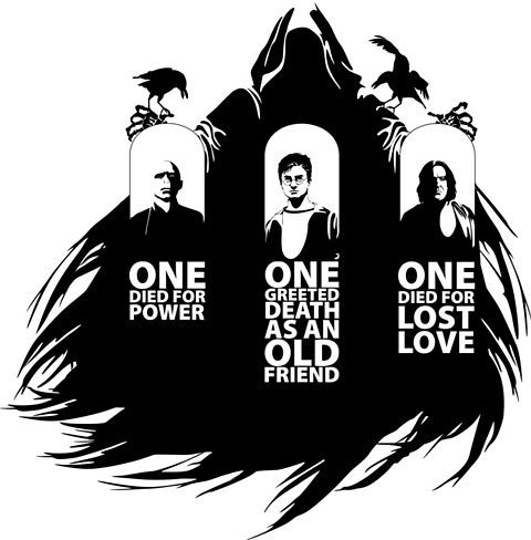 Deathly Hallows: How Voldemort, Snape, and Harry fit the description of the brothers.