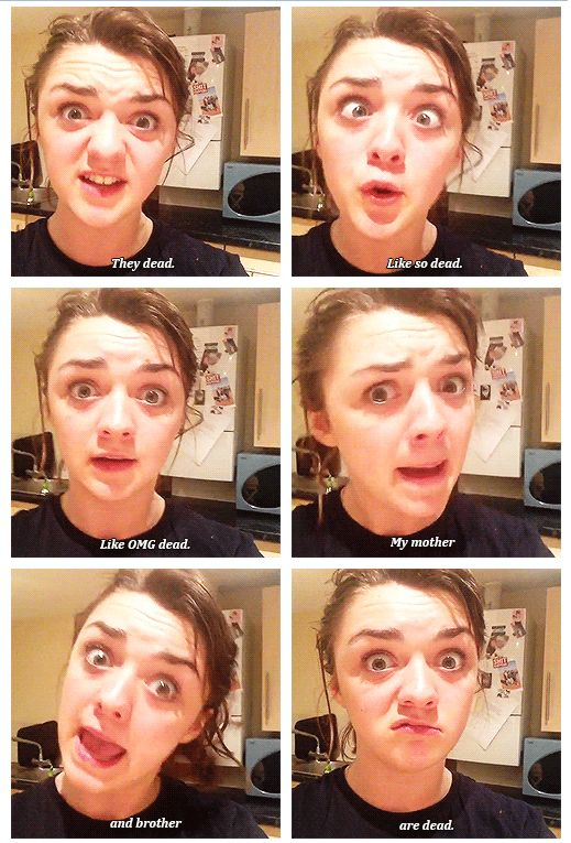 This chick is so freakin funny. Maisie Williams x)