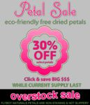 eco-friendly, freeze dried petals from Flyboy Naturals Rose Petals perfect for romantic evenings, weddings, special events, parties, foot soaks, romantic massage, include in invitations and thank you notes. Over 100 colors to choose from... 30% OFF SALE now! http://www.flyboynaturals.com