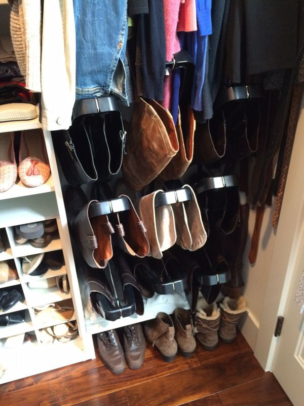 And Hereu0027s Anitau0027s Closet After. The Modular Design Of Boot Butler Made It  Easy To Arrange Her Closet. Looks Perfect!