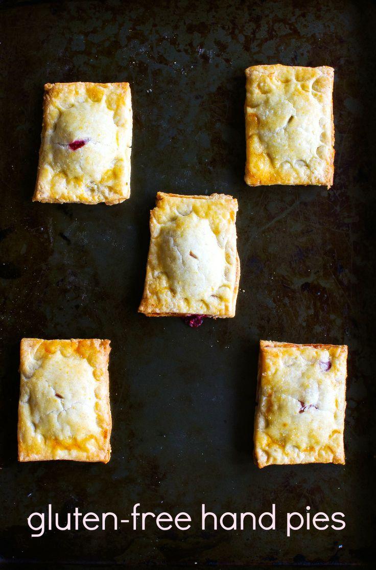 Gluten-Free Raspberry Rhubarb Hand Pies •• recipe