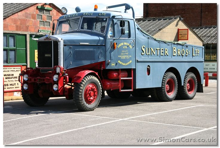 "Scammel Junior Constructor, 1964, 6x4 (the ""Senior"" was 6x6), a mkassive tractor that could also push loads."