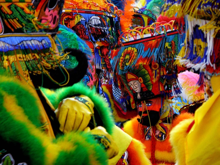 Brightly colored and loud, Chinelos. Carnaval dancers from Morelos, #Mexico.
