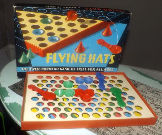 Vintage c.early-mid 1960s Flying Hats board game