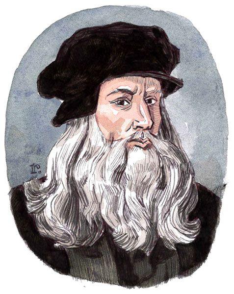 Experts believe that Leonardo da Vinci had a learning disability.