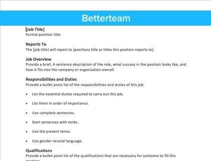 Best 25+ Job description ideas on Pinterest Build a resume - job description resume