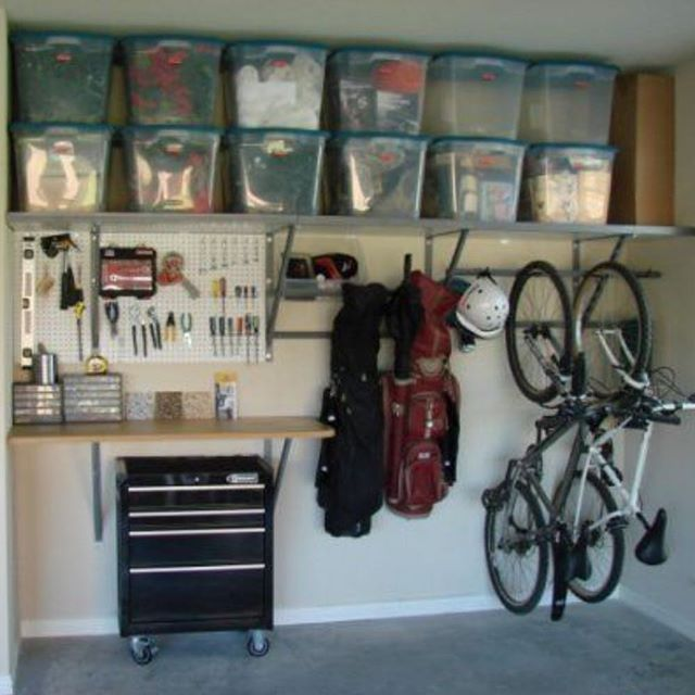 When garage organization is done the proper way, you can store plenty of stuff and still have room to park a car or two. Takes notes and measure!  Fun fall weekend project!! #garage #organization #storage #newhome #organizing #halloween #inspiration #realtors #realestate #ideas #pinterest #hgtv #diy #declutter #bikes #workspace #fall #project #makespace #mancave #howitsdone #labels #bins #tools #cars #purge #longisland #nassau #ny #follow