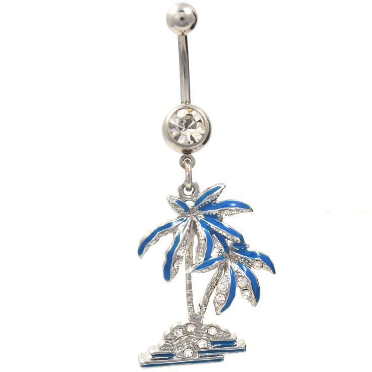 BodyDazz.com - Blue Tropical Tree Dangling Belly Button Ring (http://www.bodydazz.com/blue-tropical-tree-dangling-belly-ring/)