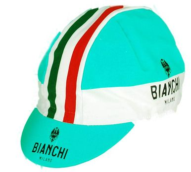 BIANCHI MILANO NEON GREEN CAP.  Made in Italy.  Official Bianchi Celeste Color
