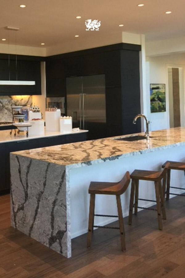 Sometimes Itu0027s Best To Let The Countertop Do The Talking. Neutral, Black  Cabinets And