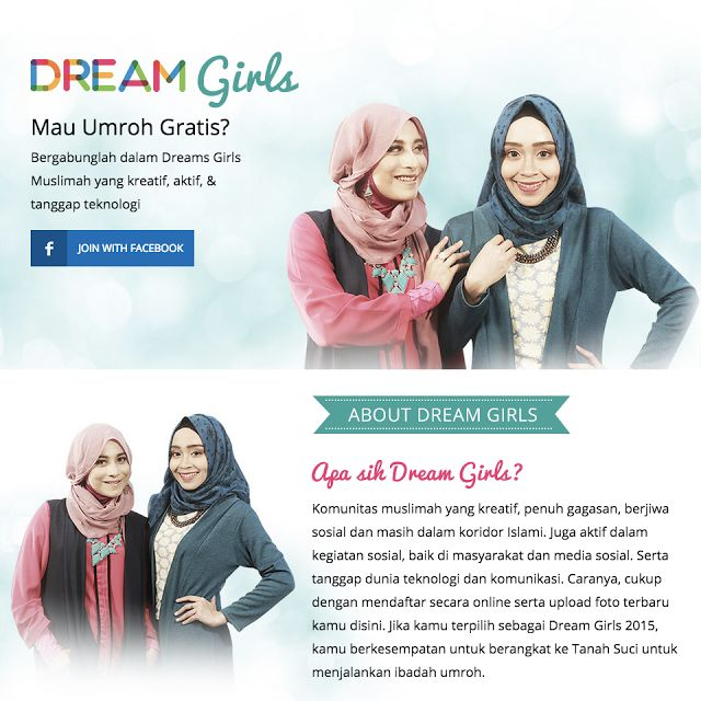 Let's Join DREAM GIRLS 2015! Winner will get a chance to go Umrah, for free :)