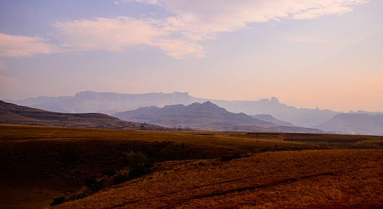 Northern Drakensberg Mountain Range in Royal Natal Park located in uKahlamba Drakensberg Park, KwaZulu-Natal