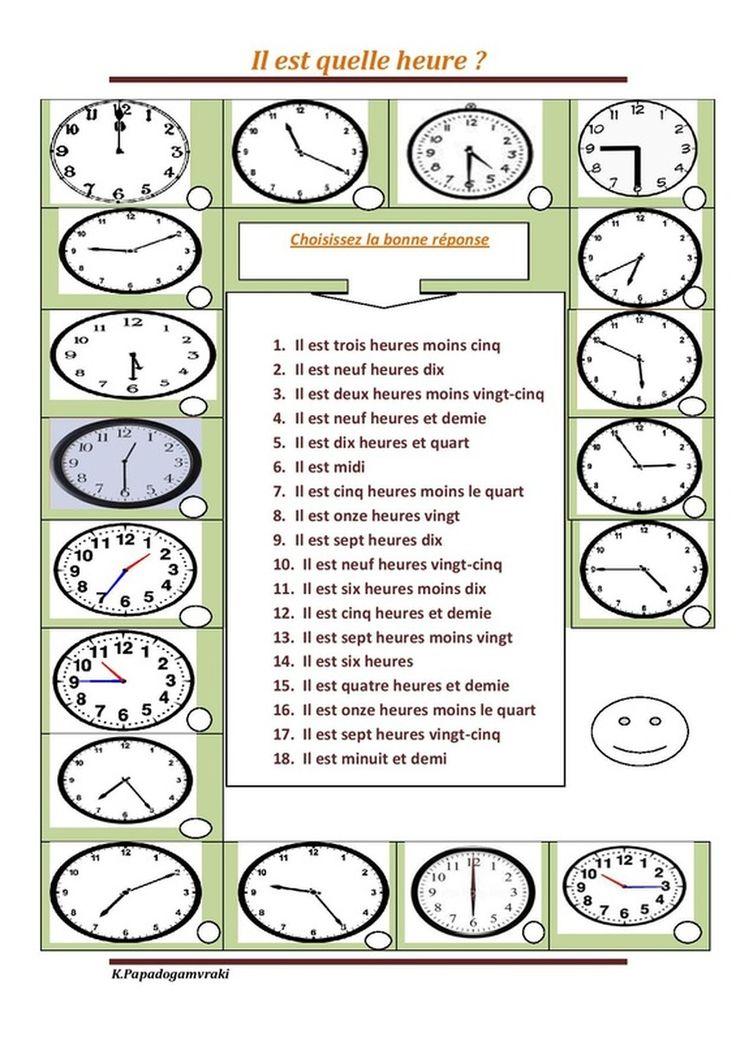 mejores 133 im genes de quelle heure est il en pinterest ense anza de franc s las horas y. Black Bedroom Furniture Sets. Home Design Ideas