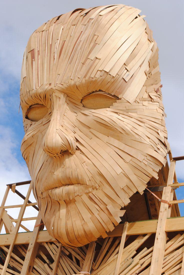 The wooden face Afrikaburn