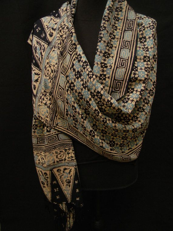 Vintage Indonesian Batik Silk Shawl by luxethnic on Etsy, $725.00