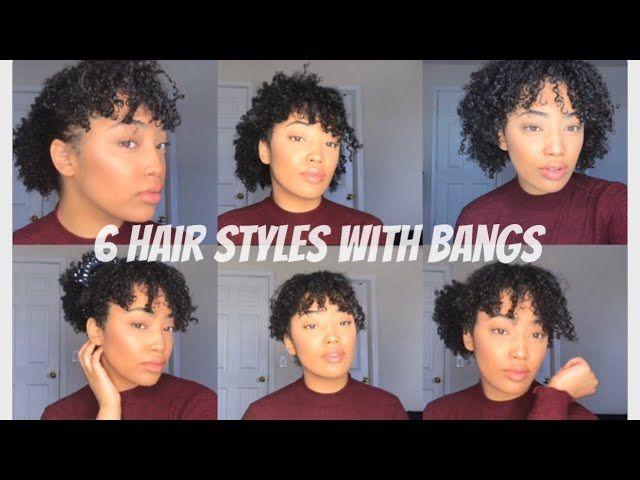 6 Easy Natural Hairstyles With Bangs 3c 4a Hair In 2020 Natural Hair Styles Easy Hairstyles With Bangs Natural Hair Diy