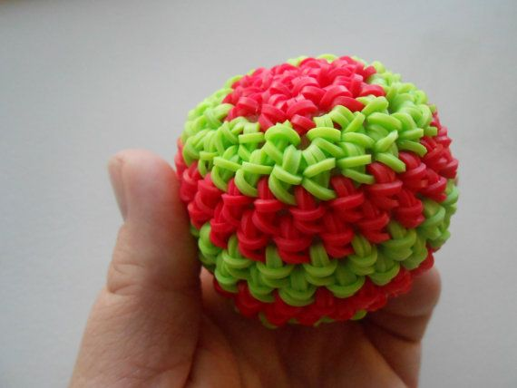 Hey, I found this really awesome Etsy listing at https://www.etsy.com/listing/479252373/rainbow-loom-loomigurumi-stress-ball-red