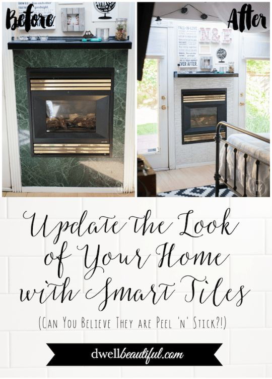 Smart Tiles Fireplace Makeovers Beautiful Easy Diy And Smart Tiles