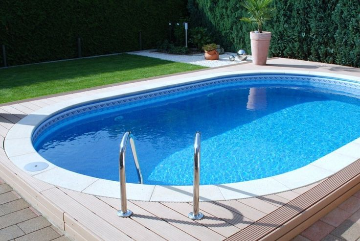 pictures of oval pools | Pool Oval 3,20 x 5,25 x 1,20 m Folie 0,8 mm