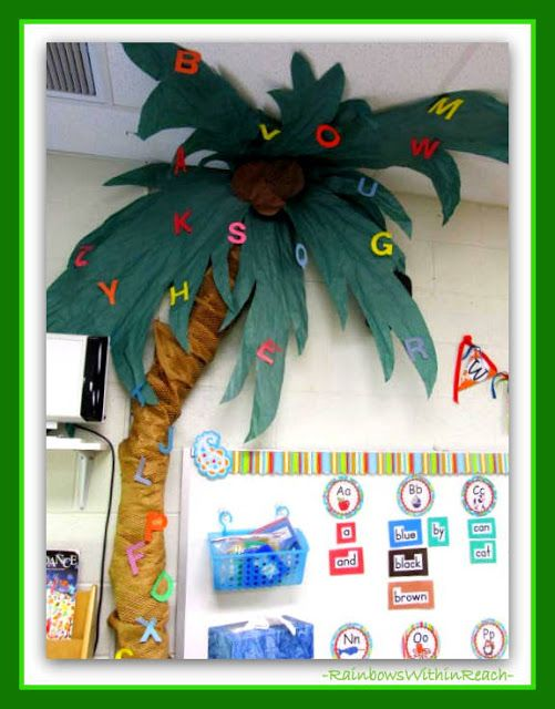 """photo of: Classroom Tree for """"Chicka-Chicka Boom Boom"""" at RainbowsWithinReach"""