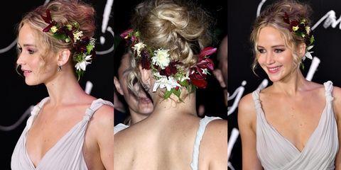 Jennifer Lawrence Hair Flowers Mother Premiere - Jennifer Lawrence Best Hairstyles
