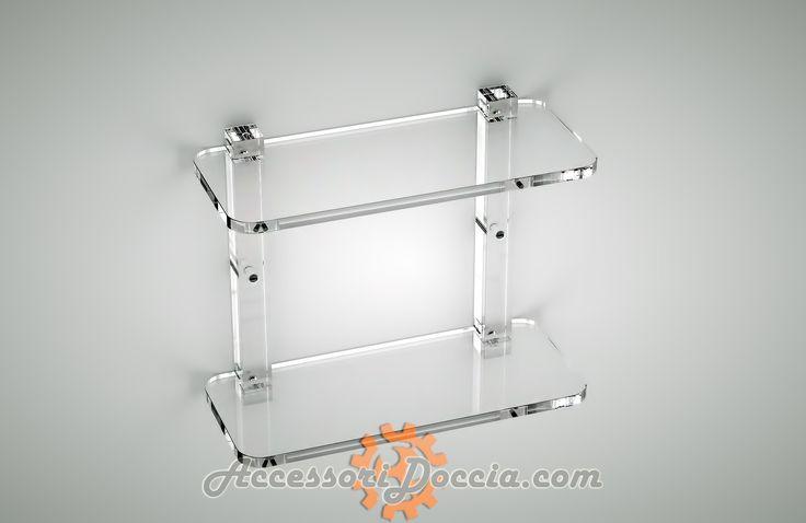 Mensola rettangolare doppia | Accessori Doccia