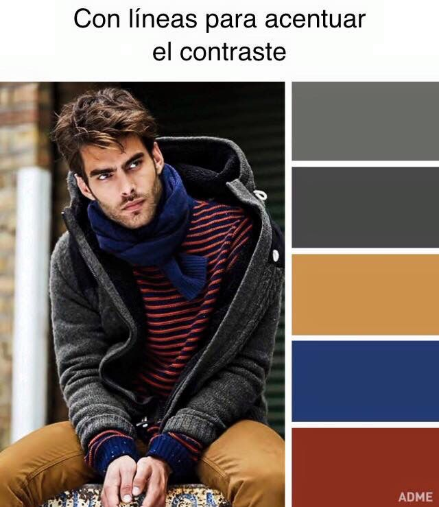 Combinación de colores que contrastan